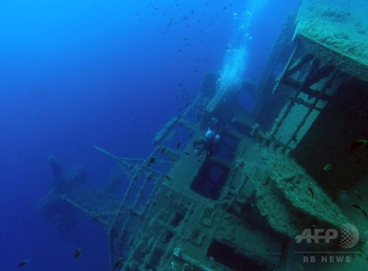 地中海で沈船ダイビングに120人、キプロス沖