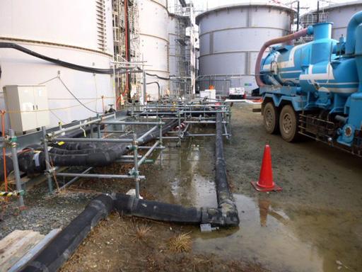 新たに高濃度汚染水100トン流出、福島第1原発