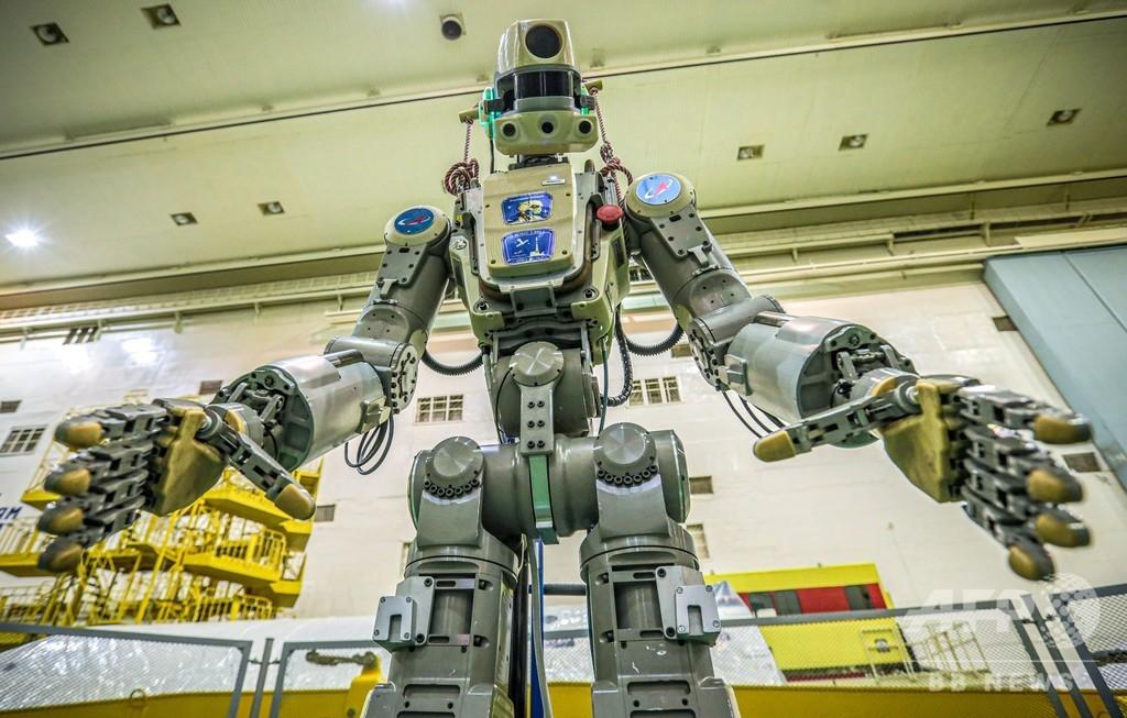 ロシア国産ヒト型ロボット、宇宙船で打ち上げ ISSで補助作業習得へ