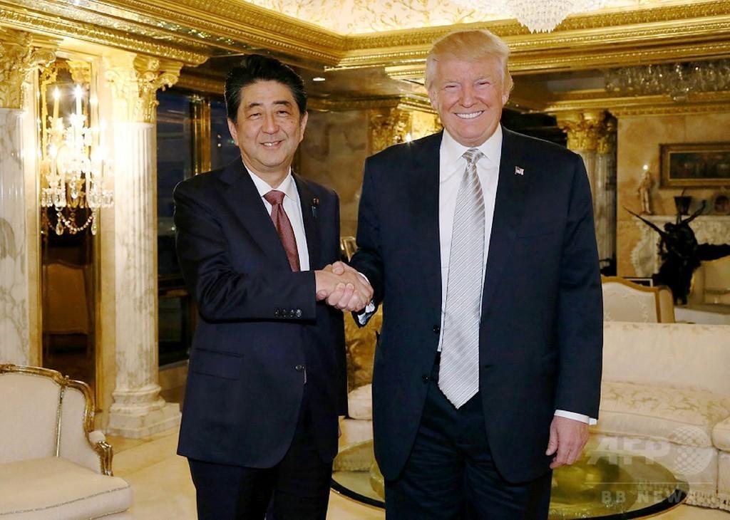 トランプ氏は「信頼できる指導者」 安倍首相、外国首脳初の会談