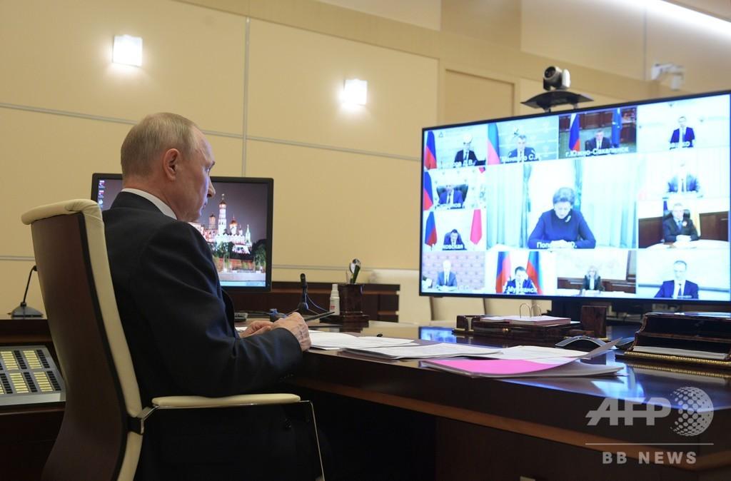 ロシアのコロナ流行「ピークはまだ」 プーチン氏警告