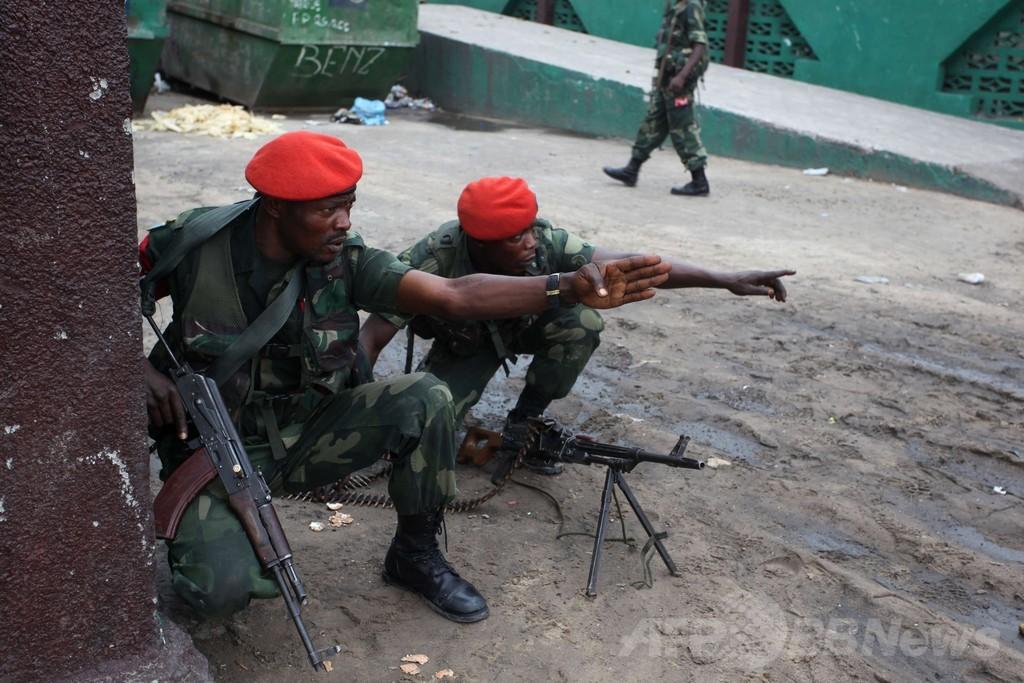 コンゴ民主共和国の同時攻撃、70人以上殺害して武装集団を撃退
