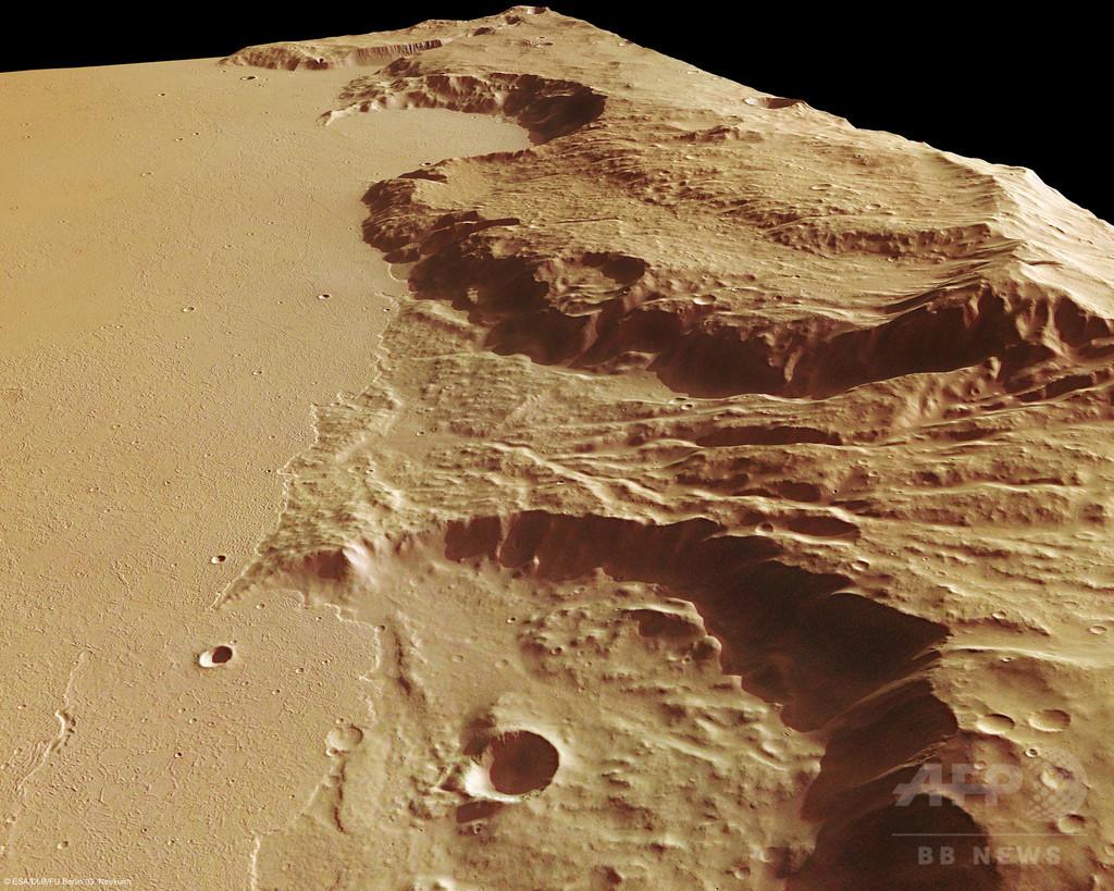 火星の激変、超巨大火山噴火が原因か 研究