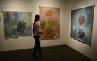 インドゾウ作の絵画、売り上げは保護活動へ インド
