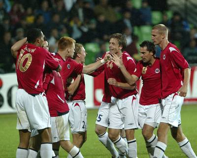 <サッカー 欧州選手権2008・予選>ノルウェー モルドバに勝利