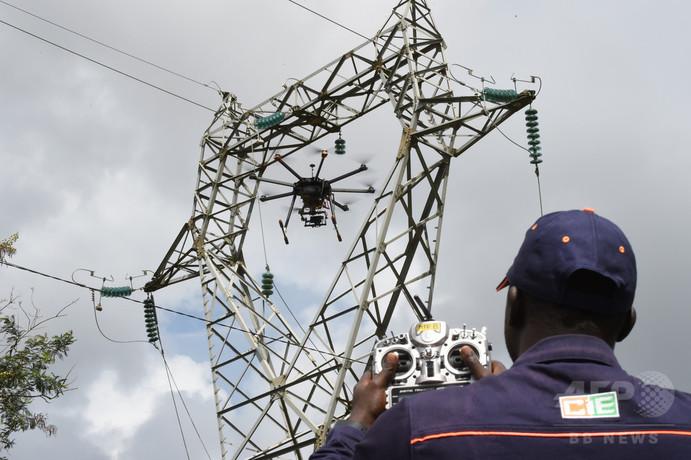 コートジボワールで羽ばたくドローン、電力事業の効率化目指す