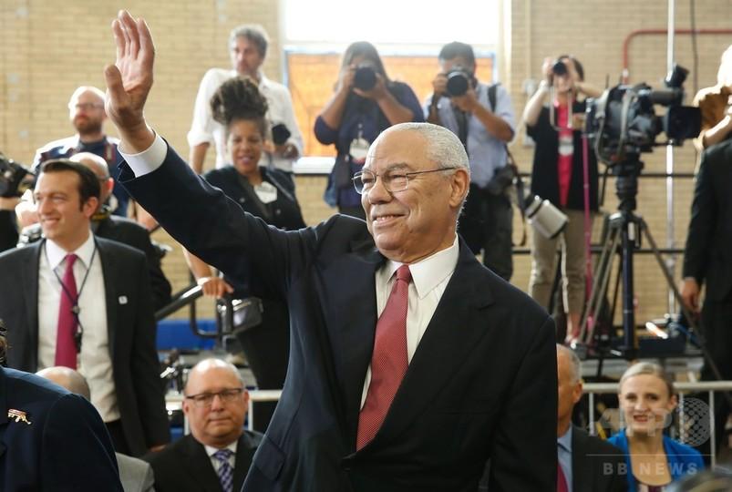 パウエル元国務長官、クリントン氏への投票表明 米大統領選