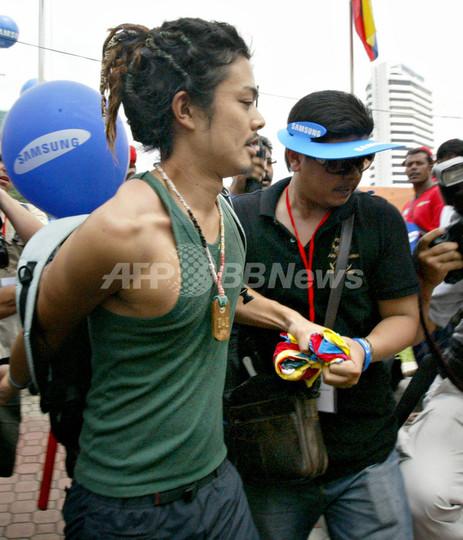 マレーシア警察、五輪聖火リレーで日本人家族を保護