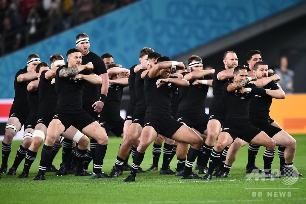 NZが「ラストハカ」、代表引退リードは気迫の舞 ラグビーW杯