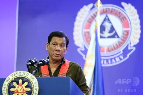 ドゥテルテ比大統領、 南シナ海問題めぐり「中国が戦争になると警告」