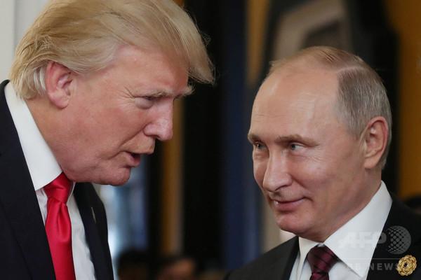 プーチン氏、トランプ氏に謝意 テロ阻止で親密さ演出