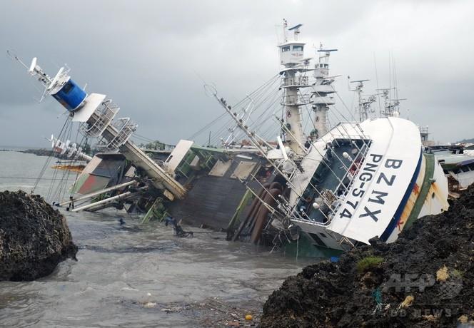 スーパー台風14号、台湾を直撃 21年で最大の勢力