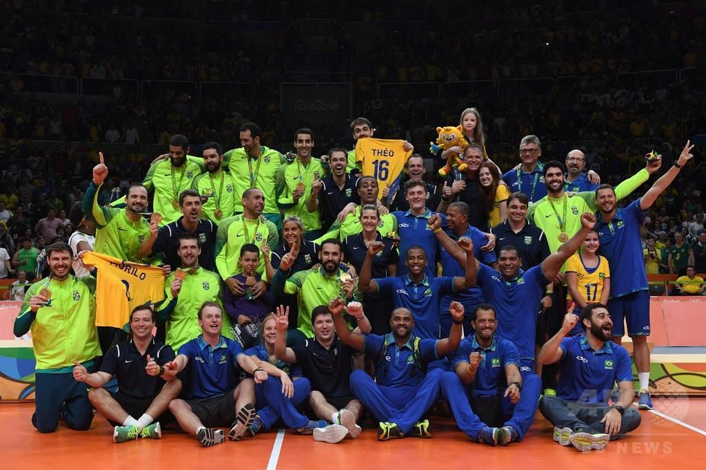 ブラジル、男子バレーボールで3大会ぶりの金メダル