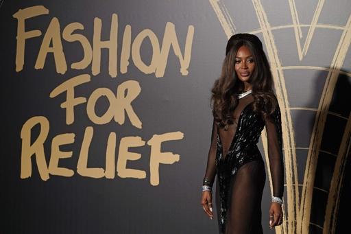ナオミ・キャンベル「Fashion For Relief」英・ロンドンで開催