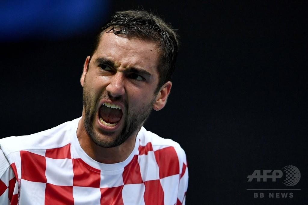 フランスに先勝を許したクロアチア、チリッチが勝負を五分に戻す デビス杯