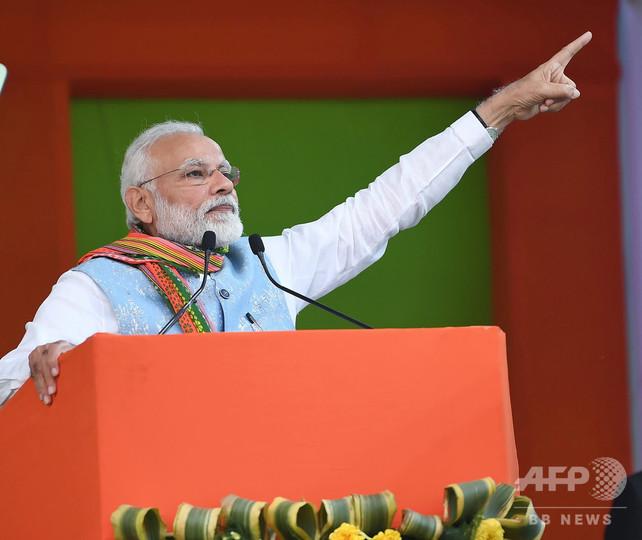 インド北東部で首相訪問に合わせ抗議デモ、国籍に関する法改正案めぐり