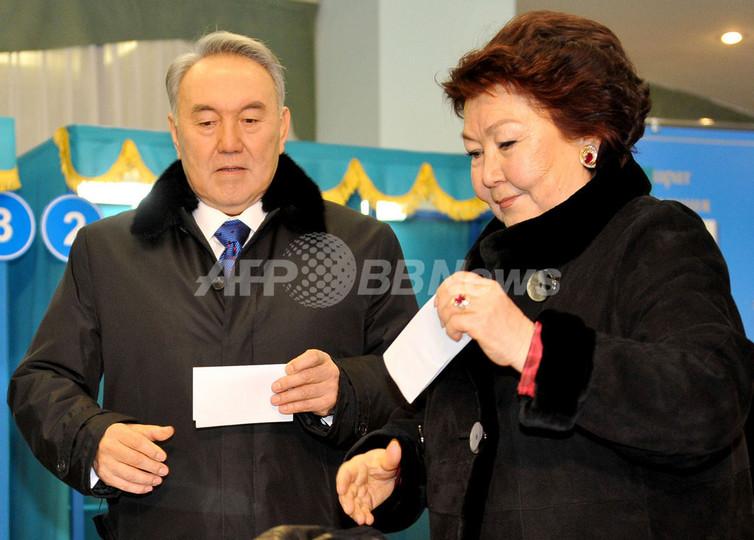 カザフスタン大統領選、現職のナザルバエフ氏圧勝 国際監視団は批判