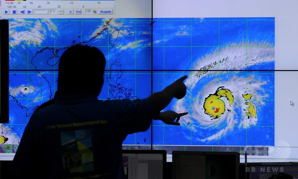 台風4号接近、フィリピン北東部で2万4000人避難