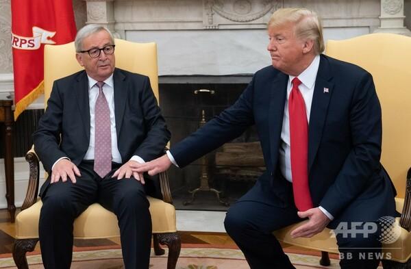 米とEU、貿易摩擦解消へ トランプ氏、ユンケル氏と合意