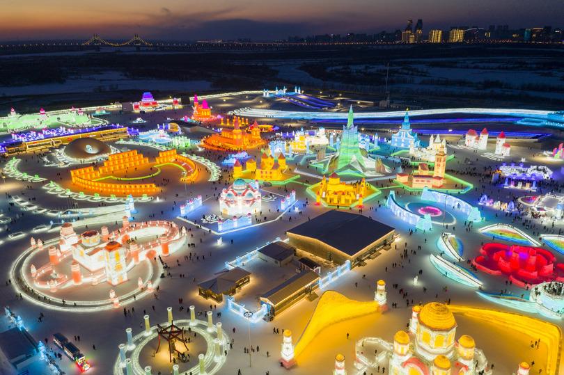 雪と氷の世界で新年を迎える 黒竜江省ハルビン市 写真7枚 国際ニュース ...