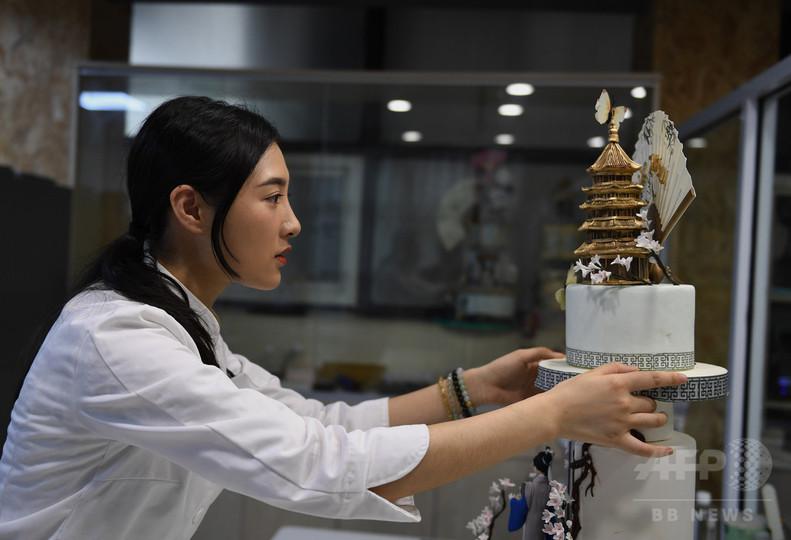 杭州の美をケーキに表現 女性パティシエ