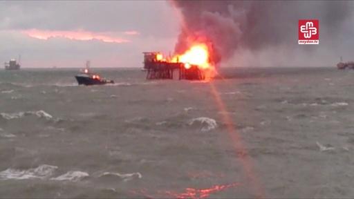 石油施設で火災、1人死亡30人行方不明 アゼルバイジャン