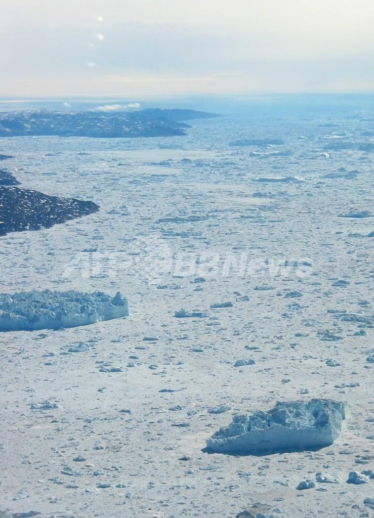 グリーンランド最大の氷河で大規模な崩落