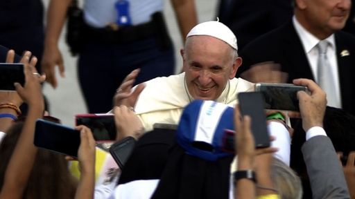動画:フランシスコ法王がパナマ到着、祭典「世界青年の日」出席へ