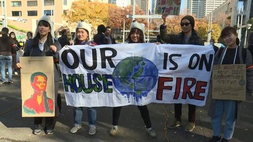 動画:日本でも気候変動対策訴えるデモ、COP25開幕前に