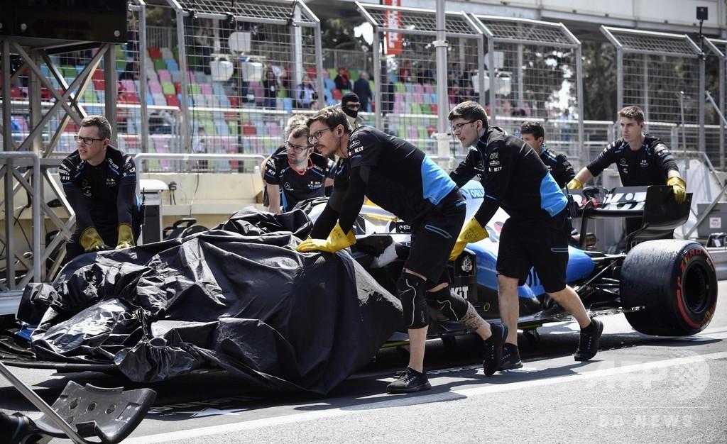 ウィリアムズ不運、マンホールと接触しマシンが破損 アゼルバイジャンGP