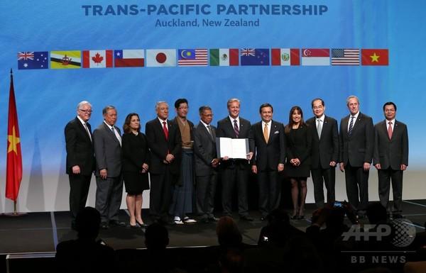 TPP参加12か国、協定文に署名 米大統領「21世紀の交通ルール」