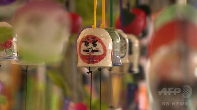 動画:川崎大師風鈴市、全国から風鈴3万個が集結