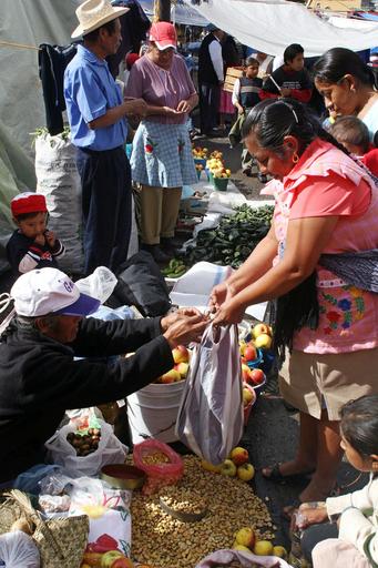 メキシコの市場で物々交換が1日だけ復活