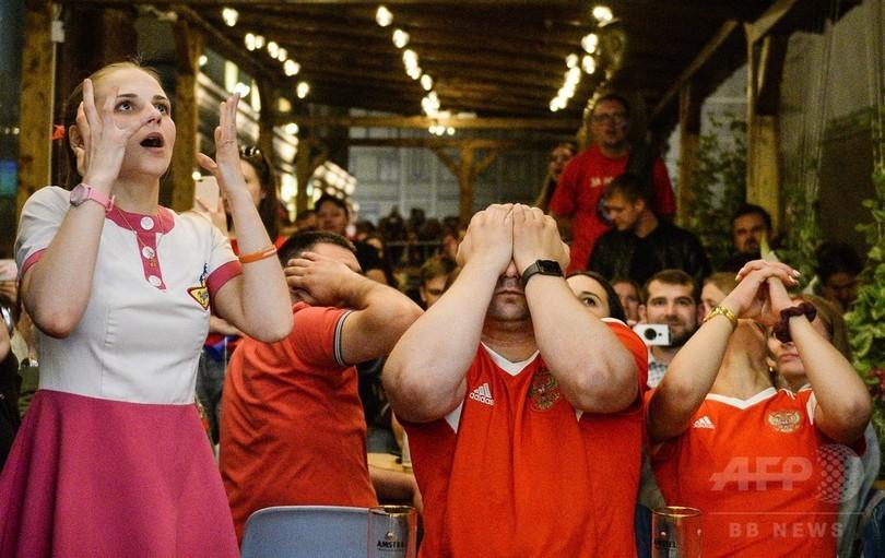 サッカーW杯のロシア敗退、シリア反体制派がネット上で大喜び
