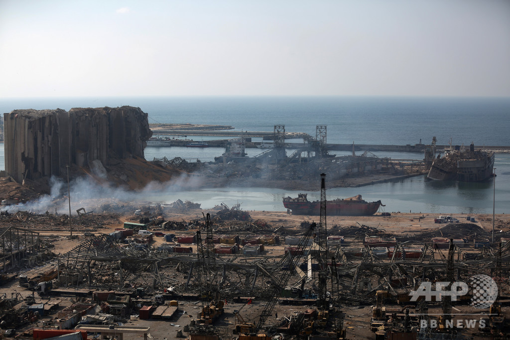ベイルート爆発で16人拘束 仏大統領、国際調査呼び掛け
