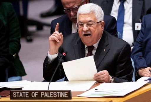 パレスチナ議長、トランプ氏の中東和平案の拒否呼び掛け 国連安保理