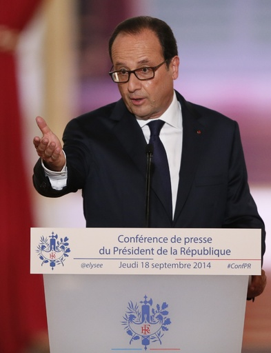 仏大統領、対「イスラム国」空爆への参加を表明