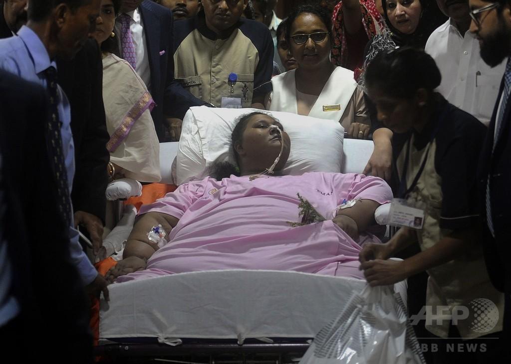 「世界で最も重い女性」が退院、インドを離れUAEで治療継続へ