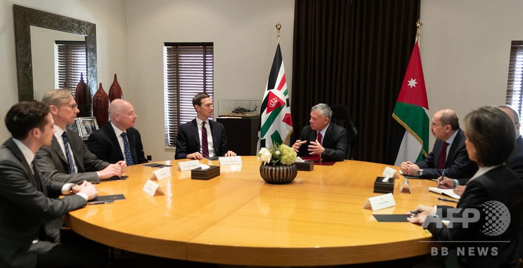クシュナー米上級顧問、ヨルダン国王と会談 中東和平案への支持求め