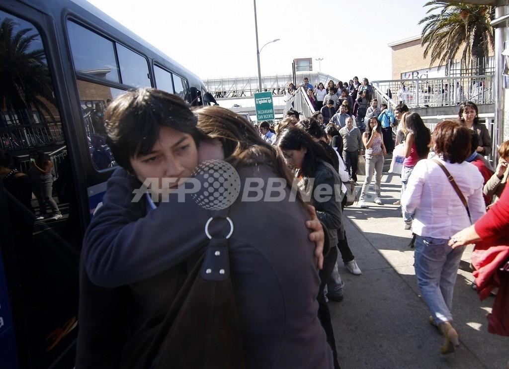 チリで2度の強い地震、前年の大地震被災地で