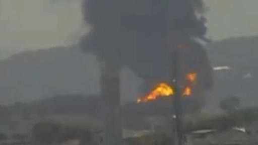 動画:石油精製所で火災発生、黒煙上がる ブラジル