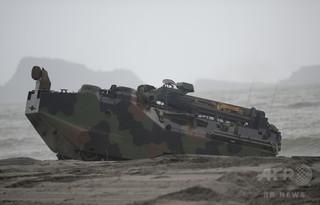 訓練中に水陸両用車から出火、米海兵隊員15人が負傷 カリフォルニア