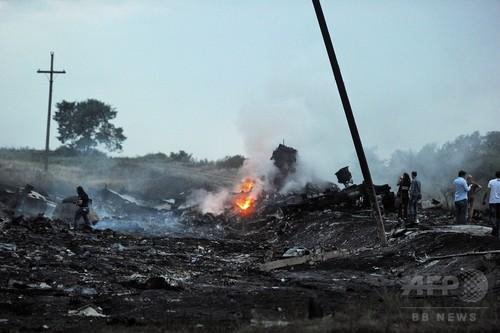 エイズ会議出席者100人搭乗か、ウクライナで墜落の旅客機