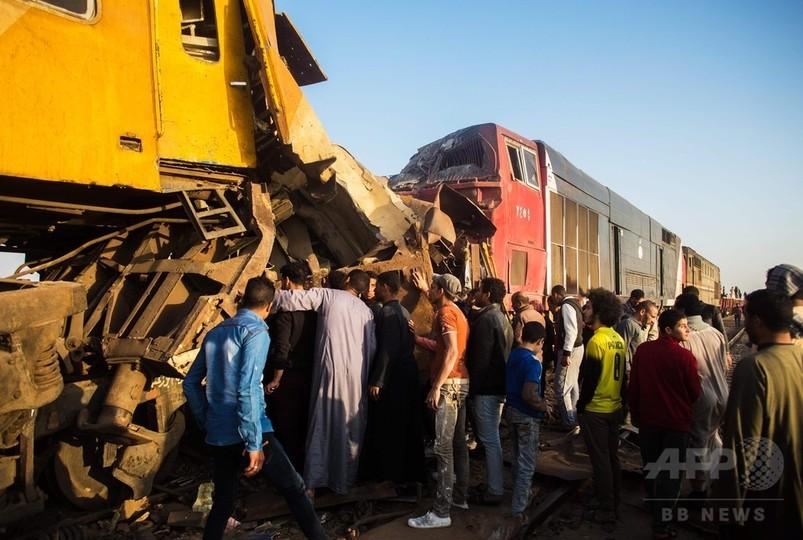 エジプト北部で列車衝突、12人死亡
