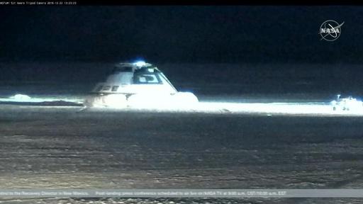 動画:ボーイング宇宙船、不具合のため地球帰還 米砂漠に着陸