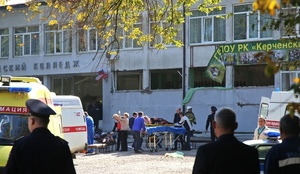 クリミア半島の学校で爆発、死者18人 犯人は学生か