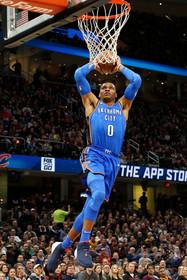 NBA初の快挙、ウェストブルックが2季連続の平均トリプルダブル達成