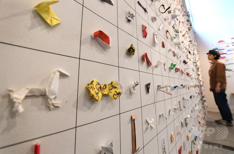 箸袋がアートに七変化「ジャパニーズチップ」展 東京