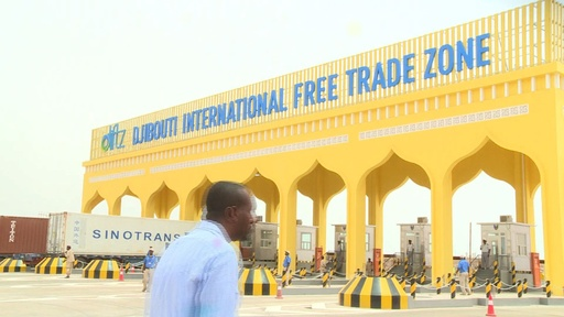 動画:ジブチに「アフリカ最大」の自由貿易区が一部完成、翻る中国国旗