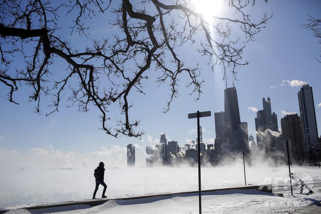 米国を襲った大寒波、気候変動との関連は?